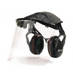 Protector auricular con plexivisor