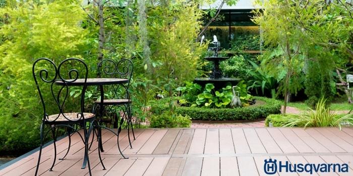 Si no sabes cómo decorar un jardín pequeño, inspírate con Husqvarna.