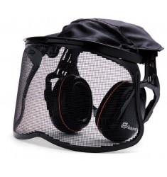 Protector auricular con visor de red