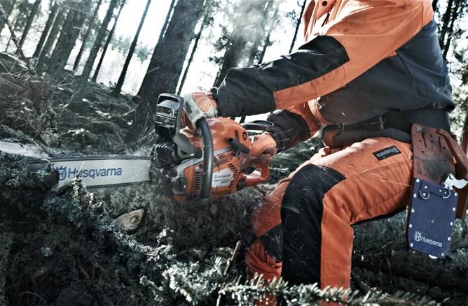 Trabajar con motosierras : equipo de protección individual
